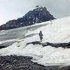 Ellen Climbing Athabasca Glacier, Alberta