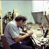Mark in his shop, September 1980