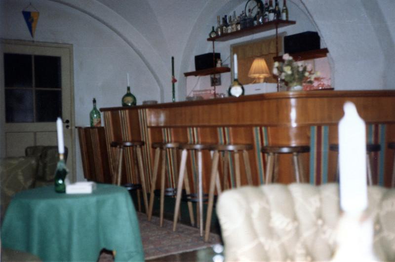 The bar at Hotel Pension zum Türken.