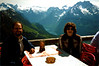 Tom & Penny at the Kehlsteinhaus. The view of the Waltzman mountain (right) and the Königssee.