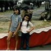 Brittany and I at the circus.  Sweet 80's shirt I picked up somewhere out there.