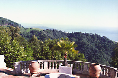 Hearst Castle - view of Pacific Coast