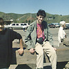 Golden Gate Bridge - parking lot - Char & Jeff are ready to go