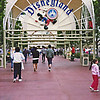Disneyland Entrance - Char & Jeff approaching the gate