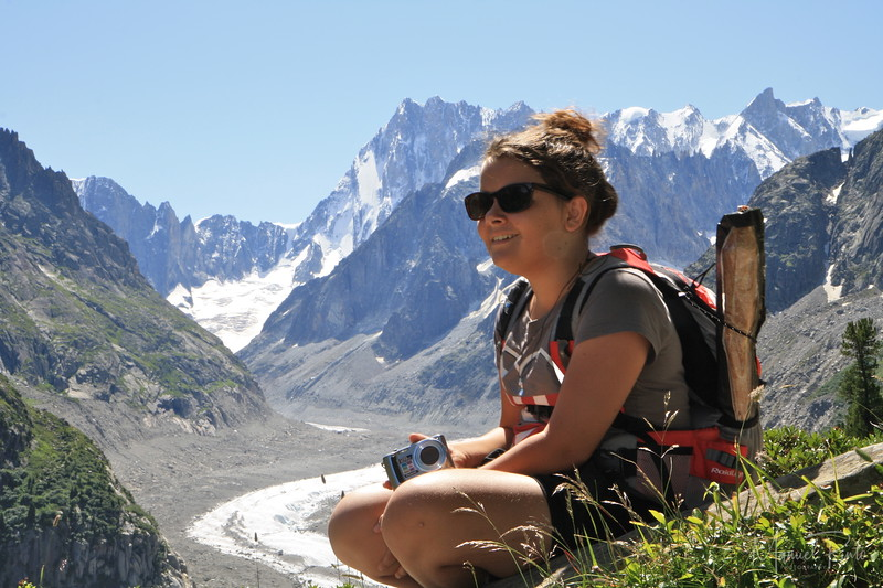 Maya above the Mer de Glace