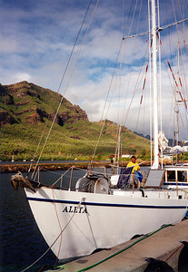 Docked in Kauai Hawaii, the last island stop before the long slog back to the mainland
