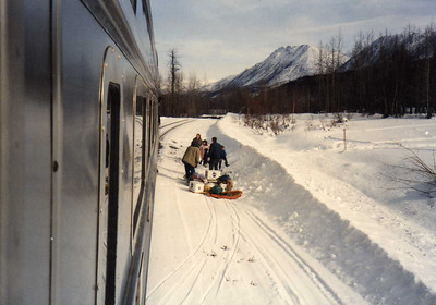 A Family Getting Off the Train in Sherman