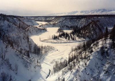 Frozen River at Hurricane Gulch--We Were on a High Trestle