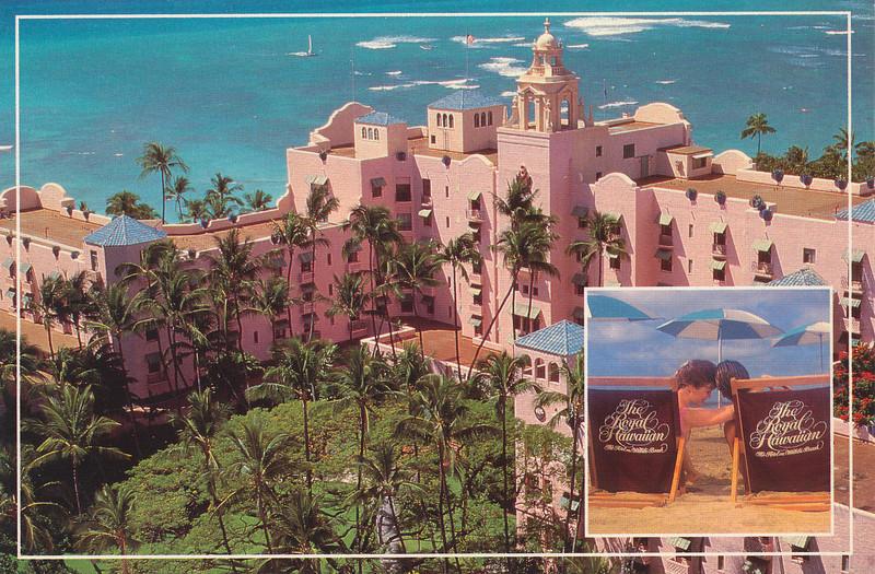 Our first stop, Royal Hawaiian Hotel, on Waikiki Beach