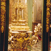 An ornate altar in Cathedral--carried during annual Good Friday parade