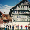 Old painted houses on trail we passed on our way back to Appenzell