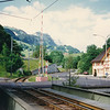 Train station in Weissbad (a W.C. stop for us)