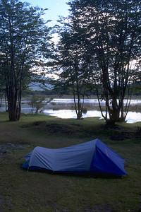 Camping in Tierra del fuego Argentina