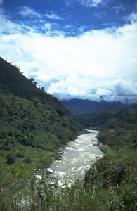 Mountain biking from Banos into the Amazon Ecuador
