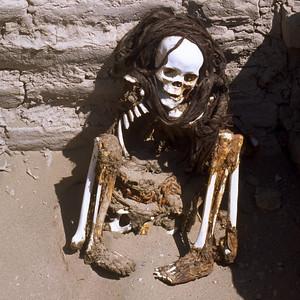 Dead body Cementerio de Chauchilla Nazca, Peru