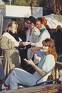 Danniele Walls with Brenda Butler & Vadis; Mavis Butler, sitting