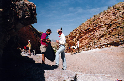 AT ERNST TINAJA Here we are at a place with some of the most remarkable rock strata. I love this place.