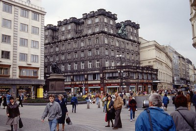 Exploring Prague in May, 1991