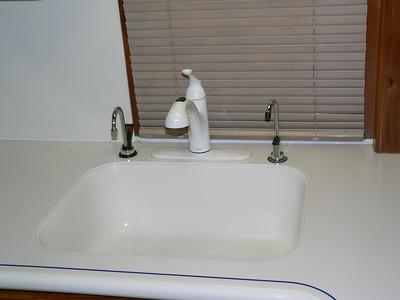 New Moen kitchen faucet.