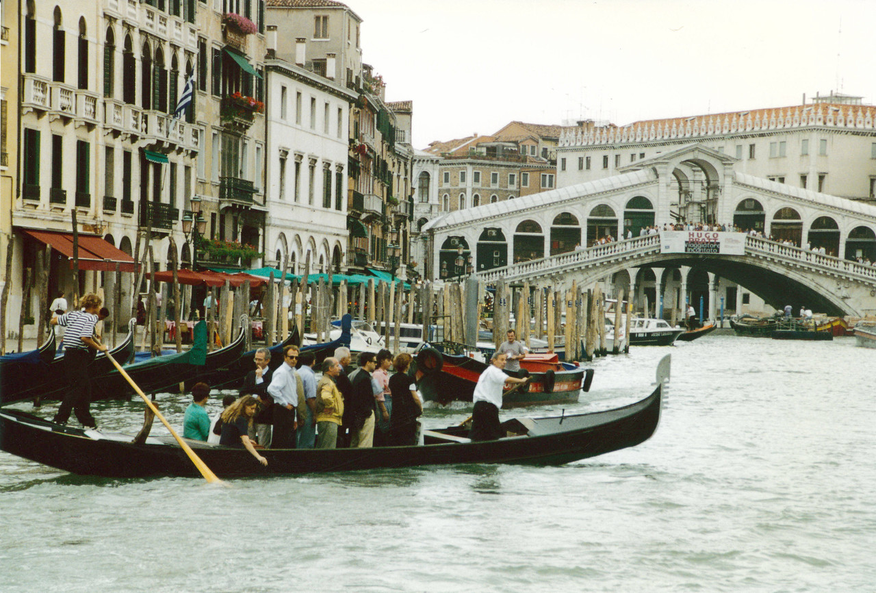 Venice: Carpooling on the Grand Canal.