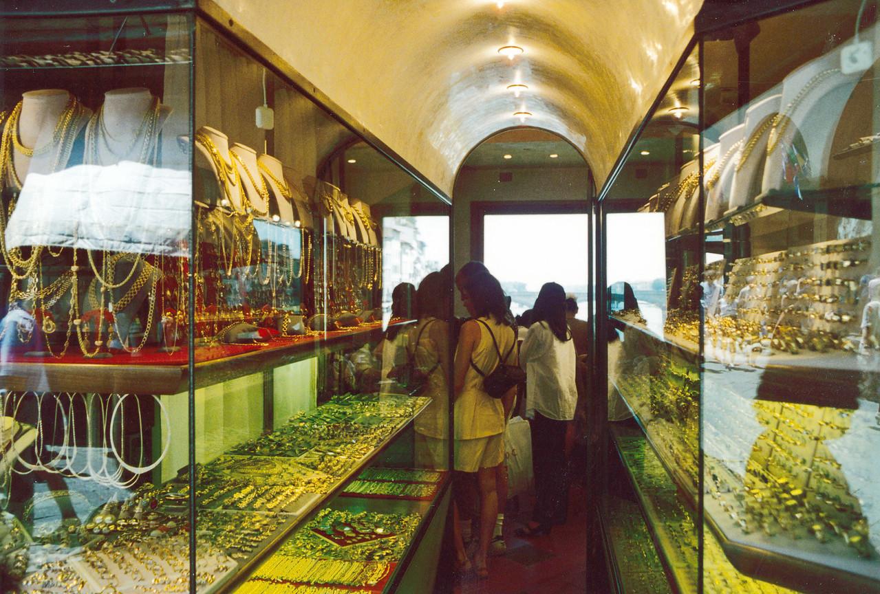Florence: Shopping on the Ponte Vecchio.