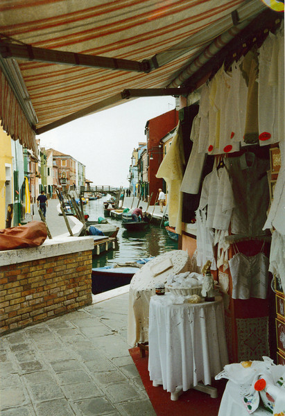 Venice: Lace shop on the island of Burano.