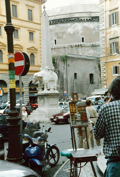 Rome: That's the Pantheon in the background.