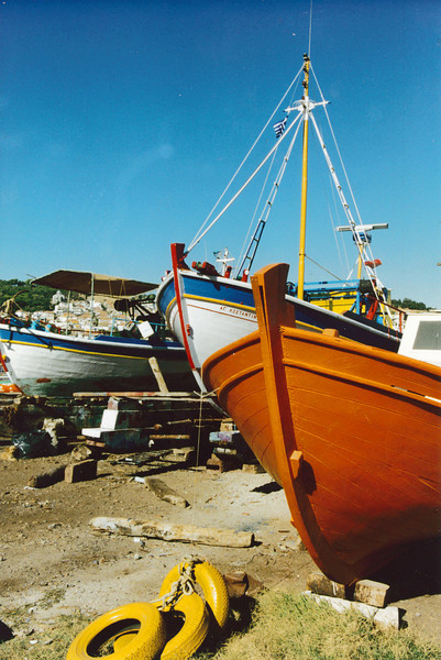 Greece: Shipyard on another Greek Isle - Lesbos.