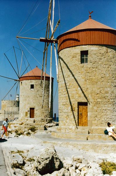 Greece: Windmills on the Island of Rhodes.