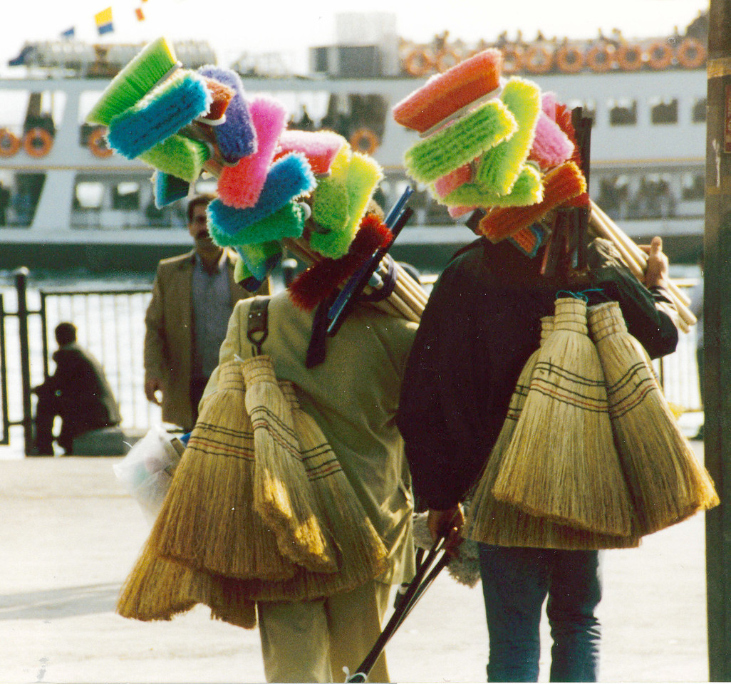Turkey: Broom salesmen in Instanbul.