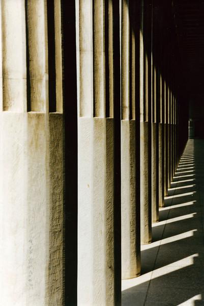 Greece: Columns in the Roman Agora - a Roman market place in Athens.
