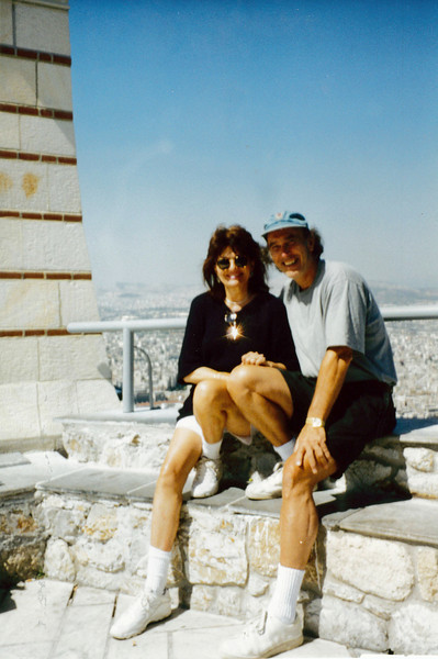 Greece: Atop a hill in Athens overlooking the Acropolis.