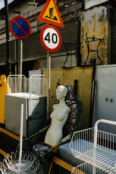 Greece: A non-traditional view of Athens - a street flea market.
