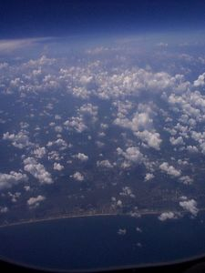 A shot of some clouds on the Florida coast.