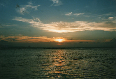 0530 - Lahaina, sunset&ship