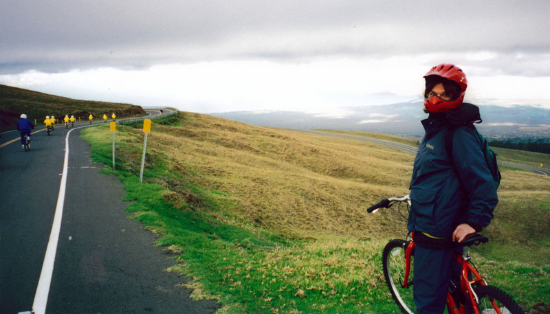 Maui: Biking down Haleakala, the largest dormant volcano in the world,  after viewing sunrise from its peak.