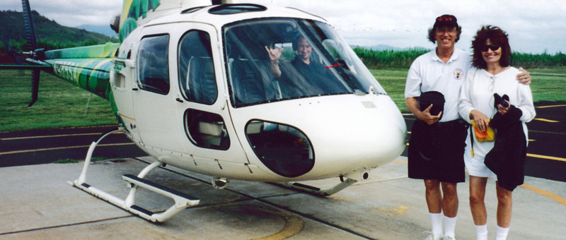 Kauai: The Safari Helicopter that took us on the most incredible tour of Kauai - the highlight of our trip.