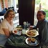 Enjoying dinner in the Conservatory