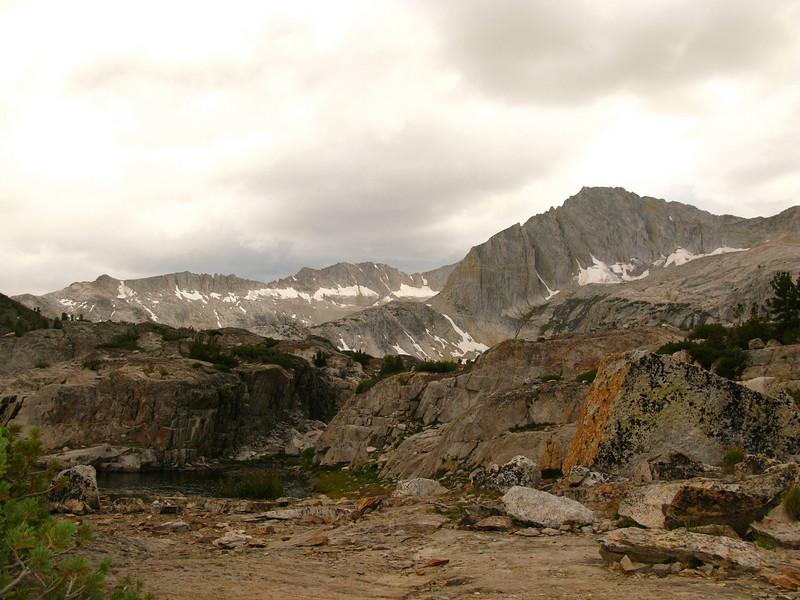 North Peak from camp above Shamrock