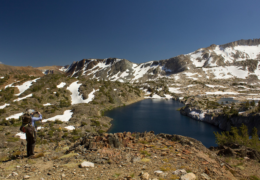 View from Hess Mine of Steelhead Lake.