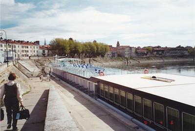 Arles--going aboard M/S Ravel