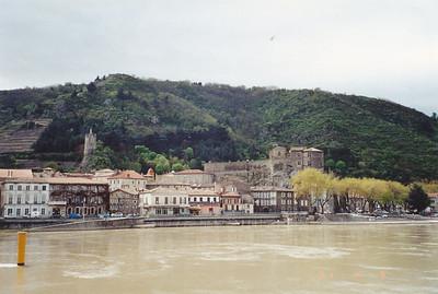 A view of Tournon waterfront