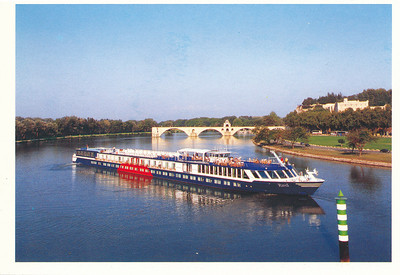 Our boat for our cruise on the Rhone River