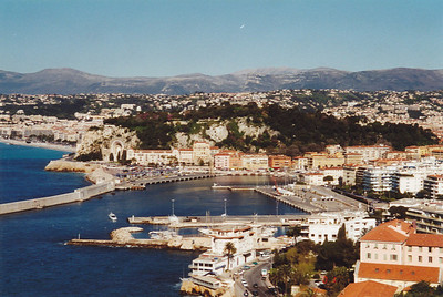 View from Overlook, showing part of Nice, Villefrance-a-Mer, Maritime Alps