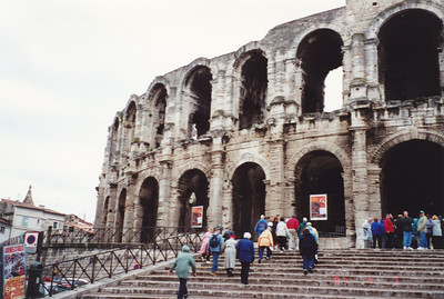 Arles--Roman Amphitheater--built about 90 A.D. Still used for concerts and bullfights