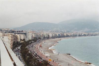 View of Promenade, Mediterranean and Maritime Alps