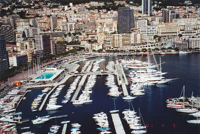 Views of Monte Carlo and Harbor.  Monaco covers less than 1 sq. mi.
