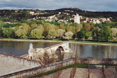 Pon St. Benezet, bridge made popular by a folk song.  Only 4 of original 22 arches remain