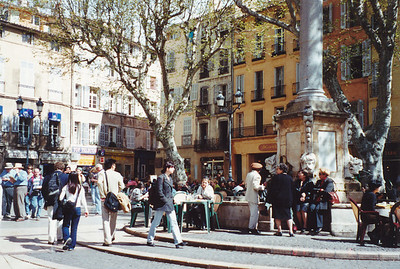 Aix-in-Provence (a university town)--a Town Square.  Founded in 123 B.C.