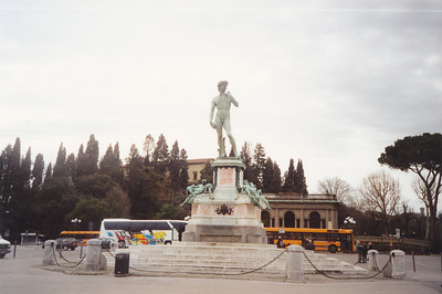 A replica of the Statue of David by Michelangelo